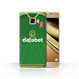 Official Sunderland AFC Case/Cover for Samsung Galaxy C7/Footballer Design/SAFC Away Shirt/Kit 15/16 Mobile phones
