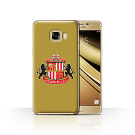 Official Sunderland AFC Case/Cover for Samsung Galaxy C7/Gold Design/SAFC Football Club Crest Mobile phones
