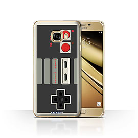 STUFF4 Case/Cover for Samsung Galaxy C7 / Nintendo Classic Design / Games Console Collection Mobile phones