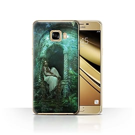 Official Elena Dudina Case/Cover for Samsung Galaxy C7/Golden Hair Design/Fairy Tale Character Mobile phones