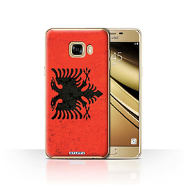 STUFF4 Case/Cover for Samsung Galaxy C7 / Albania/Albanian Design / Flags Collection Mobile phones