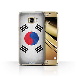 STUFF4 Case/Cover for Samsung Galaxy C7 / Korea/Korean Design / Flags Collection Mobile phones