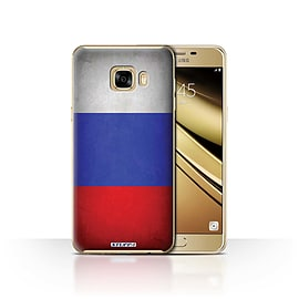STUFF4 Case/Cover for Samsung Galaxy C7 / Russia/Russian Design / Flags Collection Mobile phones