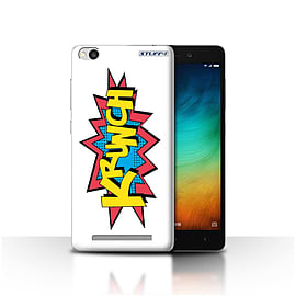STUFF4 Case/Cover for Xiaomi Redmi 3 / Krunch Design / Comics/Cartoon Words Collection Mobile phones