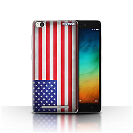 STUFF4 Case/Cover for Xiaomi Redmi 3 / America/American/USA Design / Flags Collection Mobile phones