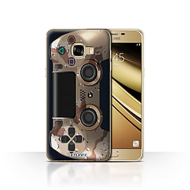 STUFF4 Case/Cover for Samsung Galaxy C5 / Desert Camouflage Design / Playstation PS4 Collection Mobile phones