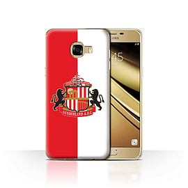 Official Sunderland AFC Case/Cover for Samsung Galaxy C5/Red/White Design/SAFC Football Club Crest Mobile phones