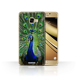 STUFF4 Case/Cover for Samsung Galaxy C5 / Peacock Design / Wildlife Animals Collection Mobile phones