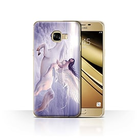 Official Elena Dudina Case/Cover for Samsung Galaxy C5 / I Can Fly Design / Fantasy Angel Collection Mobile phones