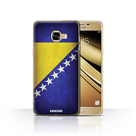 STUFF4 Case/Cover for Samsung Galaxy C5 / Bosnia & Herzegovina Design / Flags Collection Mobile phones