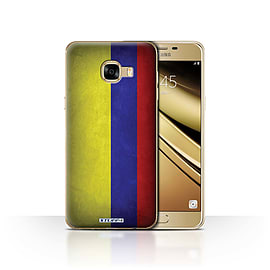 STUFF4 Case/Cover for Samsung Galaxy C5 / Columbia/Columbian Design / Flags Collection Mobile phones