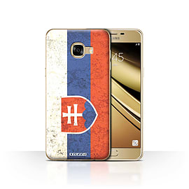 STUFF4 Case/Cover for Samsung Galaxy C5 / Slovakia/Slovakian Design / Flags Collection Mobile phones