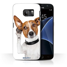 STUFF4 Case/Cover for Samsung Galaxy S7/G930 / Listening Dog Design / Funny Animals Collection Mobile phones