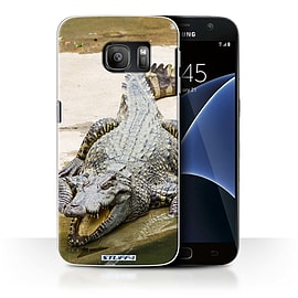 STUFF4 Case/Cover for Samsung Galaxy S7/G930 / Crocodile Design / Wildlife Animals Collection Mobile phones