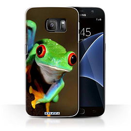 STUFF4 Case/Cover for Samsung Galaxy S7/G930 / Frog Design / Wildlife Animals Collection Mobile phones