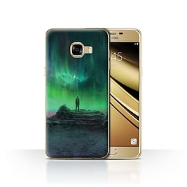 Official Chris Cold Case/Cover for Samsung Galaxy C5 / Aurora Design / Alien World Cosmos Collection Mobile phones
