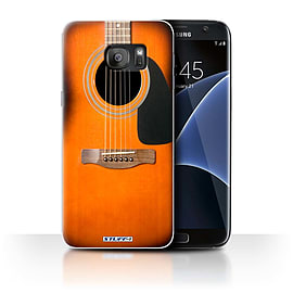 STUFF4 Case/Cover for Samsung Galaxy S7 Edge/G935 / Sunburst Acoustic Design / Guitar Collection Mobile phones