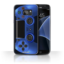 STUFF4 Case/Cover for Samsung Galaxy S7 Edge/G935 / Blue Design / Playstation PS4 Collection Mobile phones