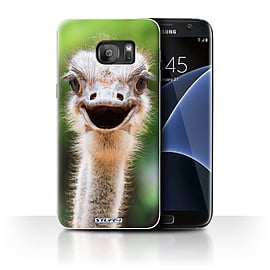 STUFF4 Case/Cover for Samsung Galaxy S7 Edge/G935 / Ostrich/Emu Design / Wildlife Animals Collection Mobile phones