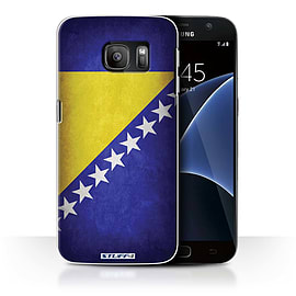 STUFF4 Case/Cover for Samsung Galaxy S7/G930 / Bosnia & Herzegovina Design / Flags Collection Mobile phones
