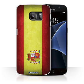STUFF4 Case/Cover for Samsung Galaxy S7/G930 / Spain/Spanish Design / Flags Collection Mobile phones