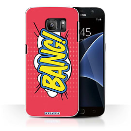 STUFF4 Case/Cover for Samsung Galaxy S7/G930 / Bang! Design / Comics/Cartoon Words Collection Mobile phones