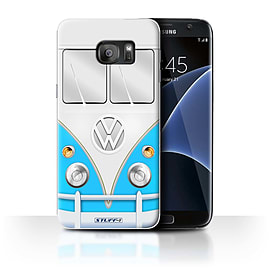 STUFF4 Case/Cover for Samsung Galaxy S7 Edge/G935 / Blue Design / VW Camper Van Collection Mobile phones
