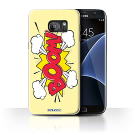 STUFF4 Case/Cover for Samsung Galaxy S7 Edge/G935 / Boom! Design / Comics/Cartoon Words Collection Mobile phones