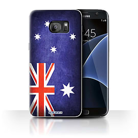 STUFF4 Case/Cover for Samsung Galaxy S7 Edge/G935 / Australia/Australian Design / Flags Collection Mobile phones
