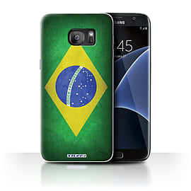 STUFF4 Case/Cover for Samsung Galaxy S7 Edge/G935 / Brazil/Brazilian Design / Flags Collection Mobile phones