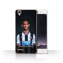 Official Newcastle United FC Case/Cover for Oppo F1/Gouffran Design/NUFC Football Player 15/16 Mobile phones