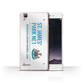 Official Newcastle United FC Case/Cover for Oppo F1/White/Blue Design/St James Park Sign Mobile phones