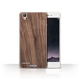 STUFF4 Case/Cover for Oppo F1 / Walnut Design / Wood Grain Effect/Pattern Collection Mobile phones