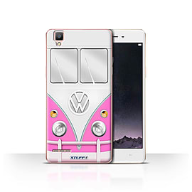 STUFF4 Case/Cover for Oppo F1 / Pink Design / VW Camper Van Collection Mobile phones