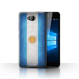 STUFF4 Case/Cover for Microsoft Lumia 650 / Argentina/Argentinean Design / Flags Collection Mobile phones