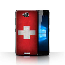 STUFF4 Case/Cover for Microsoft Lumia 650 / Switzerland/Swiss Design / Flags Collection Mobile phones