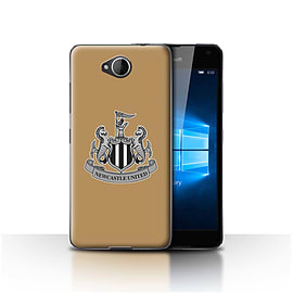 Official Newcastle United FC Case/Cover for Microsoft Lumia 650/Mono/Gold Design/NUFC Football Crest Mobile phones