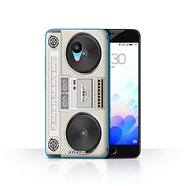 STUFF4 Case/Cover for Meizu M3 / Boombox Design / Retro Tech Collection Mobile phones