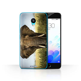 STUFF4 Case/Cover for Meizu M3 / Elephant Design / Wildlife Animals Collection Mobile phones