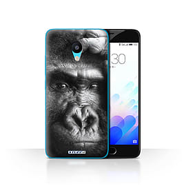 STUFF4 Case/Cover for Meizu M3 / Gorilla/Monkey Design / Wildlife Animals Collection Mobile phones