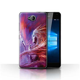 Official Chris Cold Case/Cover for Microsoft Lumia 650/Space Girl Design/Alien World Cosmos Mobile phones