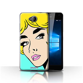 STUFF4 Case/Cover for Microsoft Lumia 650 / Blonde Hair Design / Comic Illustrated Girls Collection Mobile phones