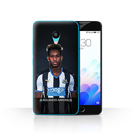 Official Newcastle United FC Case/Cover for Meizu M3/Aarons Design/NUFC Football Player 15/16 Mobile phones
