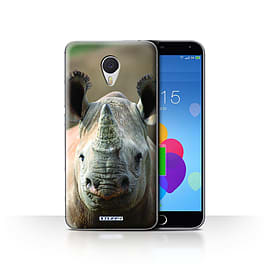STUFF4 Case/Cover for Meizu M3 Note / Rhino Design / Wildlife Animals Collection Mobile phones