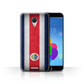 STUFF4 Case/Cover for Meizu M3 Note / Costa Rica/Rican Design / Flags Collection Mobile phones