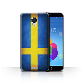 STUFF4 Case/Cover for Meizu M3 Note / Sweden/Swedish Design / Flags Collection Mobile phones