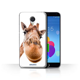 STUFF4 Case/Cover for Meizu M3 Note / Closeup Giraffe Design / Funny Animals Collection Mobile phones