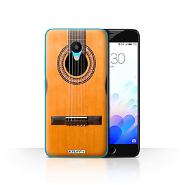 STUFF4 Case/Cover for Meizu M3 / Wood/Wooden Acoustic Design / Guitar Collection Mobile phones