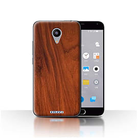 STUFF4 Case/Cover for Meizu M2 / Mahogany Design / Wood Grain Effect/Pattern Collection Mobile phones