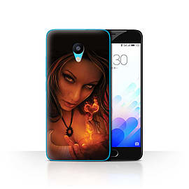 Official Elena Dudina Case/Cover for Meizu M3 / Flaming Heart Design / Love Art Collection Mobile phones